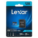 128GB Lexar High-Performance 633x microSDXC mit SD-Adapter